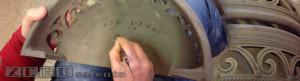 Banner Ceramiche e terracotta Lampada Applique mezza luna traforata Terracotta Salento